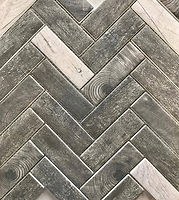 Charcoal timber look tiles, rectangular and fit together