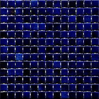 Deep blue glossy mosaic tiles in a 35 x 35 grid