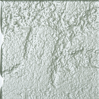 Green single square tile with rough finish