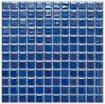 ocean blue glossy mosaic tiles in a 35 x 35 grid