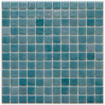 aqua green glossy mosaic tiles in a 35 x 35 grid