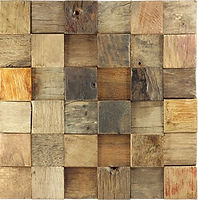 Wooden blocks fitting togethe in a grid with a mix of fades