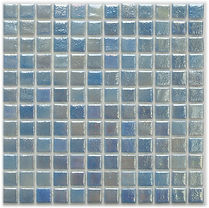Pale light blue glossy mosaic tiles in a 35 x 35 grid