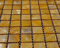 yellow square grid of mosaic tiles