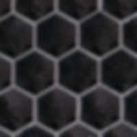 Hexagon shaped jet black ceramic tile, shaped like honeycomb