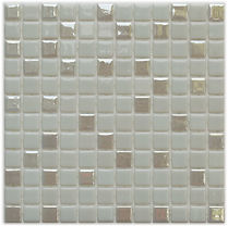 pale grey mosaic tiles in a 35 x 35 grid