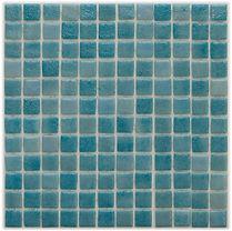 aqua mix glossy mosaic tiles in a 35 x 35 grid