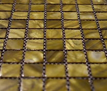dull Yellow mix square grid of mosaic tiles