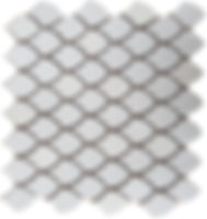 smooth white mosaic fishscale