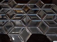 dark diamond glass mosaic sheet