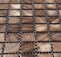 light brown square grid of mosaic tiles