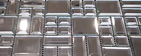 a light glass mosaic with squares and rectangles in a sheet
