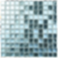 Aqua mix of glass mosaic tiles in a 300x300 grid