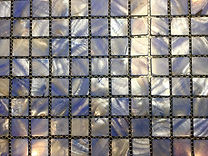 pale blue square grid of mosaic tiles