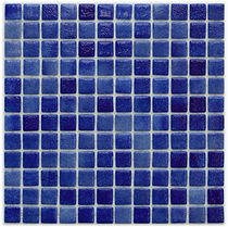 Mixed dark blue glossy mosaic tiles in a 35 x 35 grid
