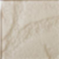 Cream single square tile with rough finish
