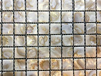 golden pearl square grid of mosaic tiles