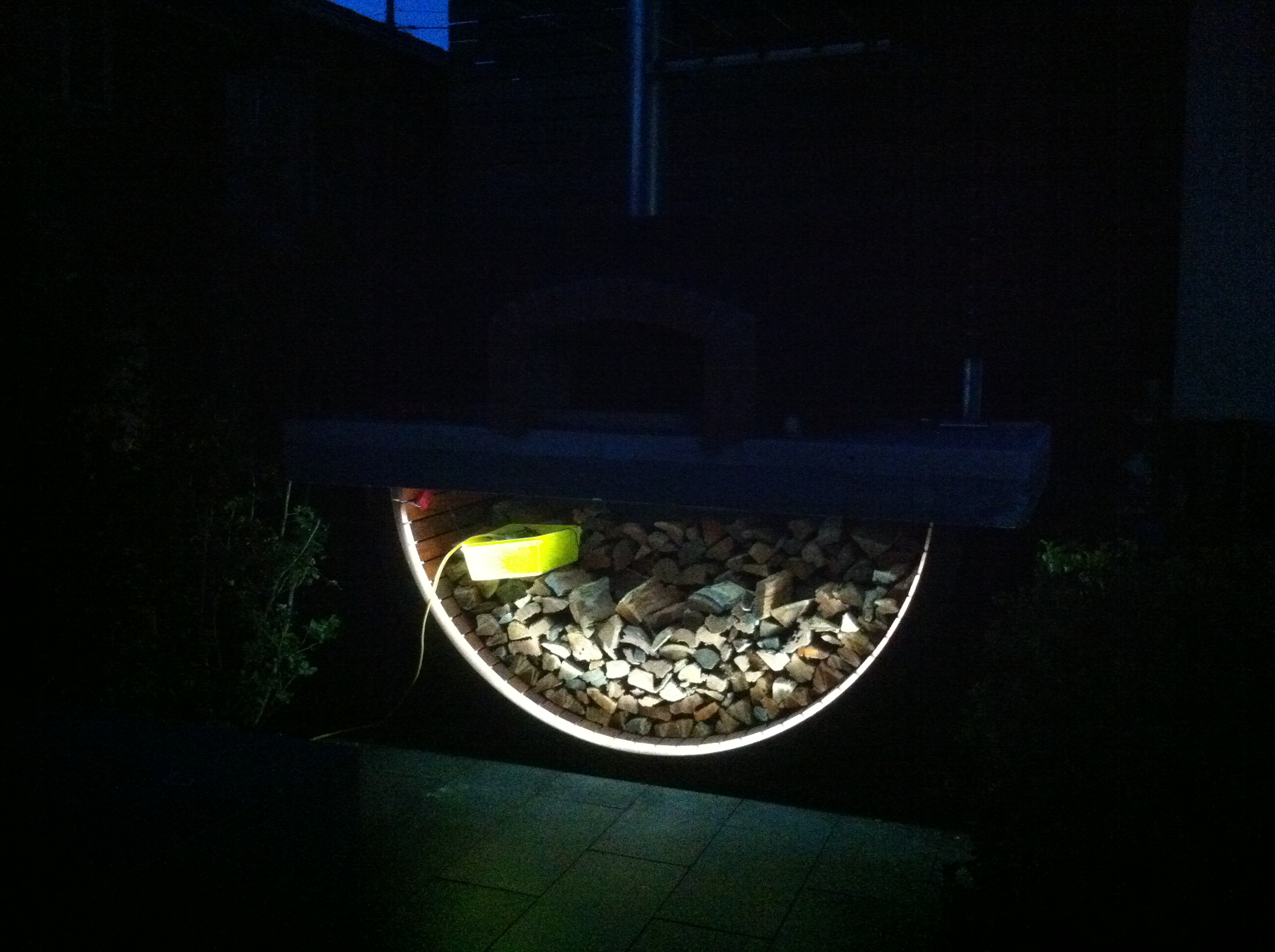 Georgeshall custom design and bult pizza oven LED
