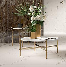 Marble look white porcelain flooring