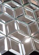 light glass of diamond shaped mosaic