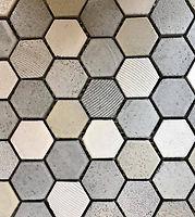 Hexagonal beige mix glazed mosaic