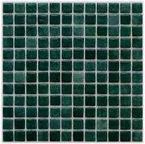 dark green glossy mosaic tiles in a 35 x 35 grid