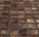 dark brown square grid of mosaic tiles