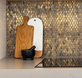 Golden brown diamond mosaic