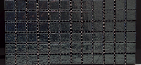 Black grid of platinum glass tiles