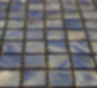 Blue square grid of mosaic tiles