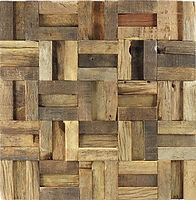 thin rectangular strips pieced together in a grid all with various colours and fading