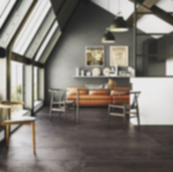 Charcoal paving tiles, imported from Italy perfect for any indoor living spaces