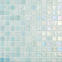 Icy blue glossy mosaic tiles in a 35 x 35 grid
