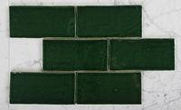 Emerald green subway mosaic