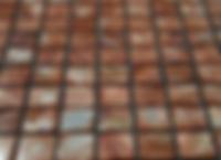 Caramel square grid of mosaic tiles