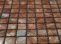 Caramel square grid of mosaic tiles