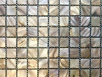 light grey mix square grid of mosaic tiles
