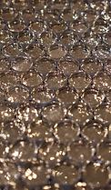 Pennyround gold metalic glass sheet