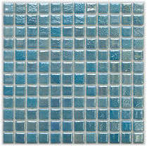 light blue glossy mosaic tiles in a 35 x 35 grid