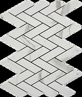 geometric rectangular white marbled look
