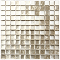 light gold glass mosaic tiles in a 300x300 grid