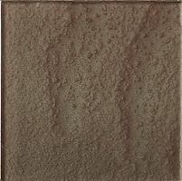 Brown single square tile with rough finish
