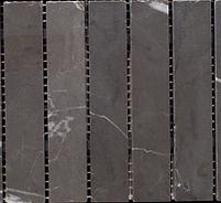 Rectangular grey mosaic strips in a sheet