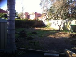 east hills back yard landscaping