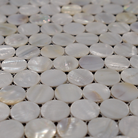 pearl coloured pennyround glossy mosac sheet