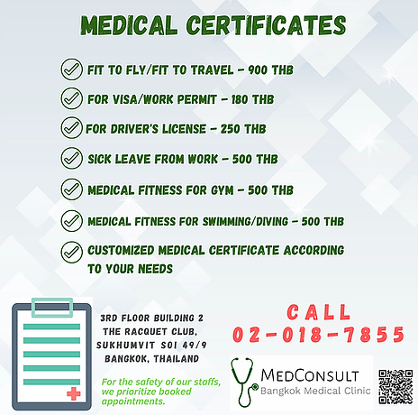 2020 English Medical certificates with p
