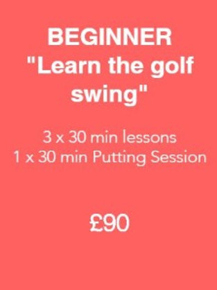 Beginner - Learn the Golf Swing