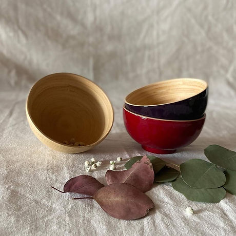 Bamboo Natural and Lacquer Utensils