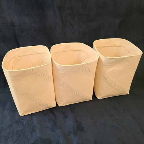 """Canvas Storage Bins (4.5""""* 4.5""""* 6.75"""")"""