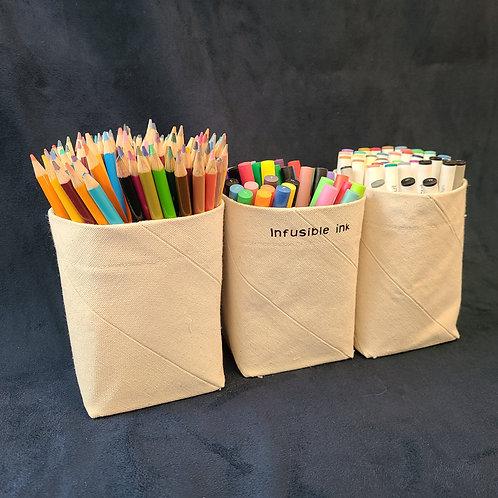 """Canvas Storage Bins (3.25""""* 3.25""""* 5"""")"""